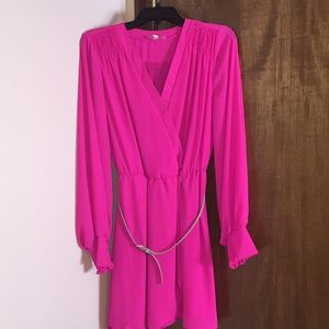 Hot Pink Gianni Bini GB girls Sheer Dress
